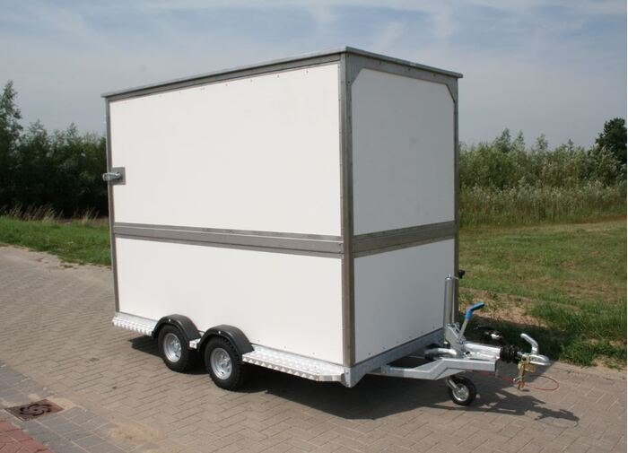 Distributietrailer 6 rolcontainers
